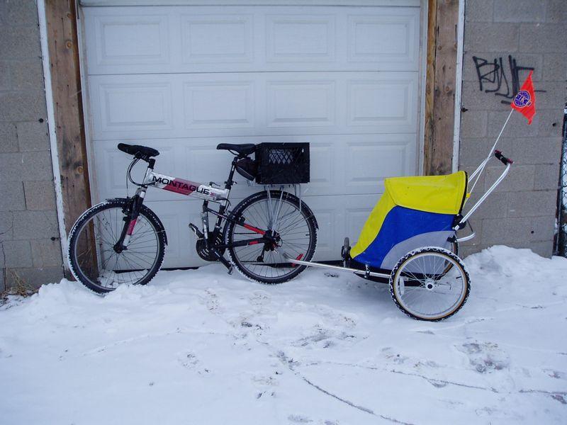 Bike and shopper